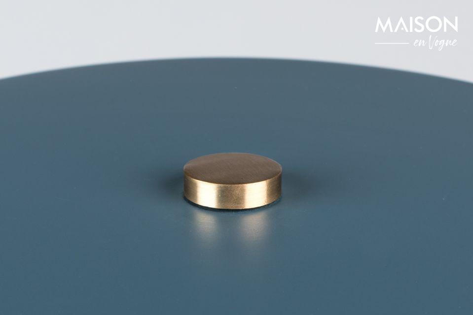Lampe de table colorée en fer laqué