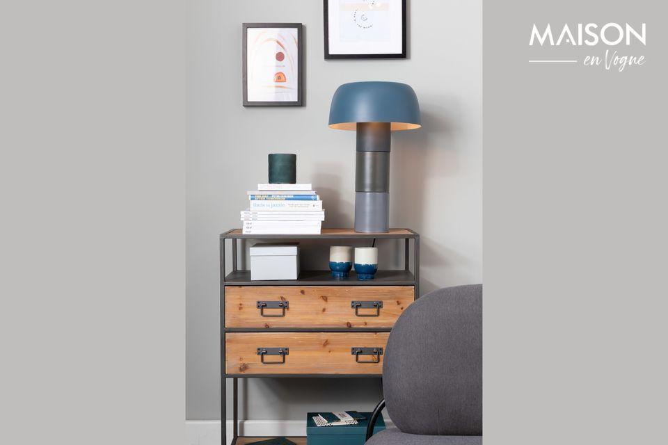 Lampe de table Muras Tricolore bleue - 4