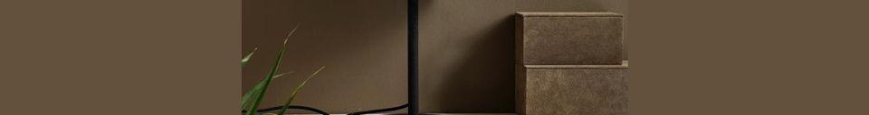 Mise en avant matière Lampe de table noire Glow en métal