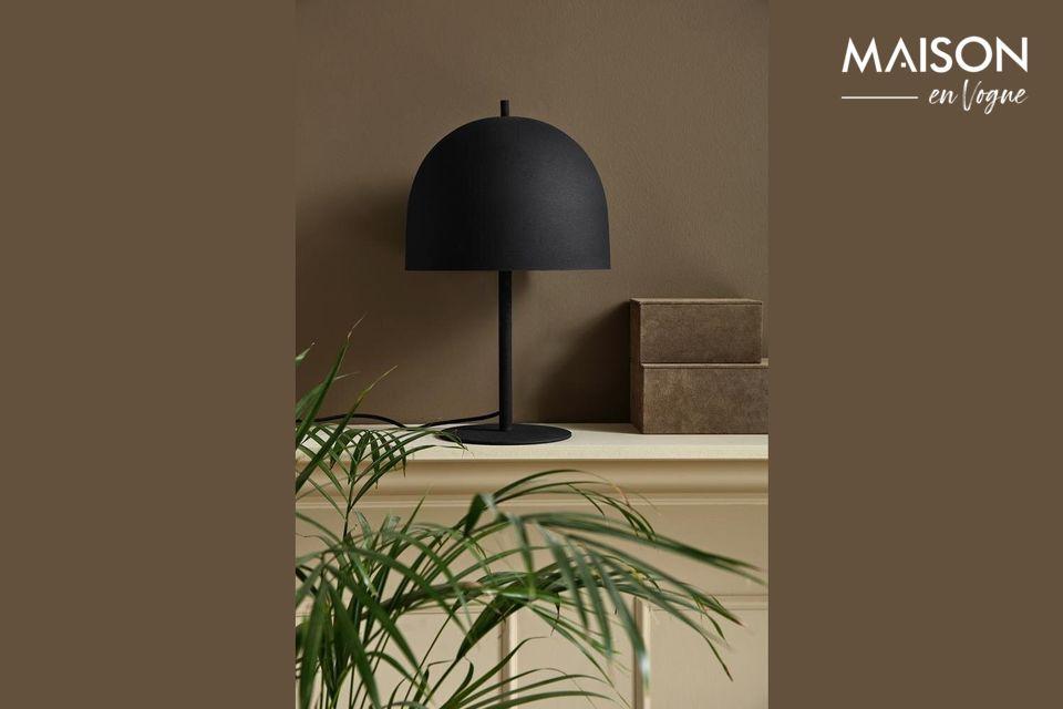 Lampe de table noire Glow en métal
