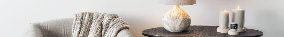 Mise en avant matière Lampe de table Snooz en céramique