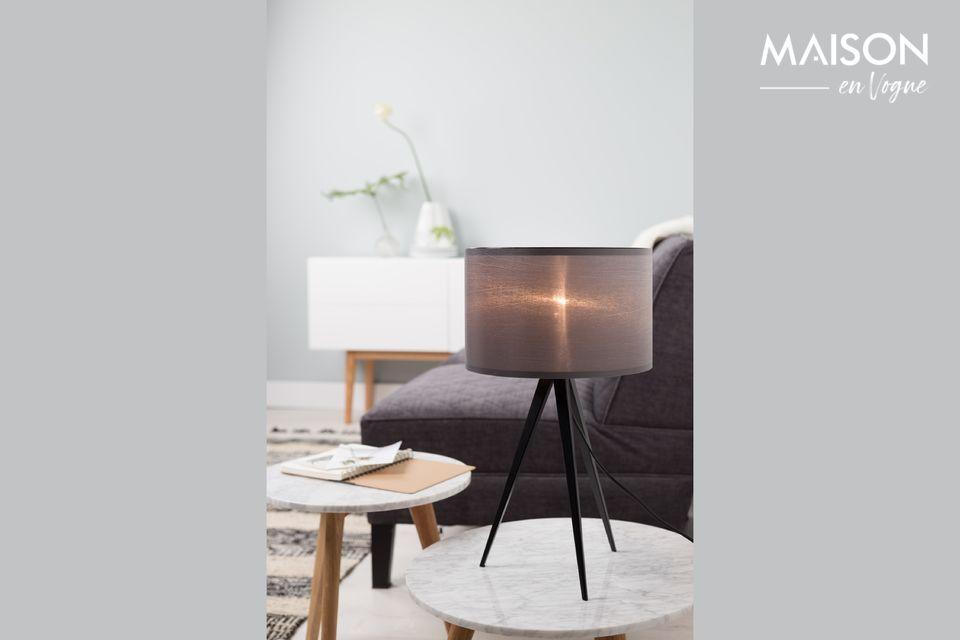Lampe de table Tripod noir et gris Zuiver