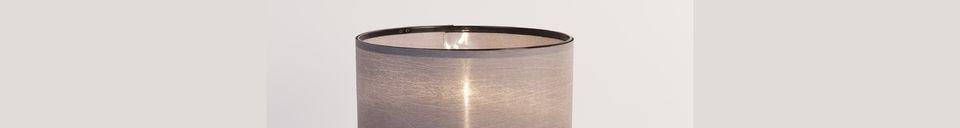 Mise en avant matière Lampe de table Tripod noir et gris