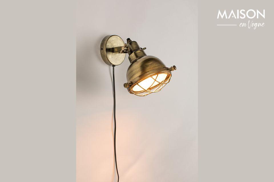 Lampe Murale Evan en laiton White Label