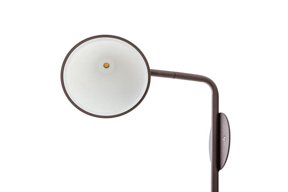 Cette lampe murale en métal conviendra à tout intérieur moderne