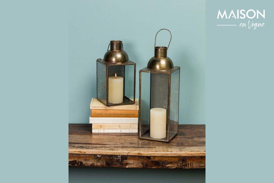 Une lanterne à suspendre au design vintage et chaleureux