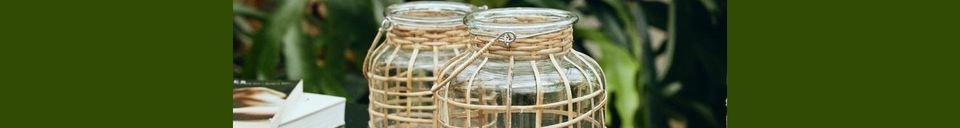 Mise en avant matière Lanterne Bambou
