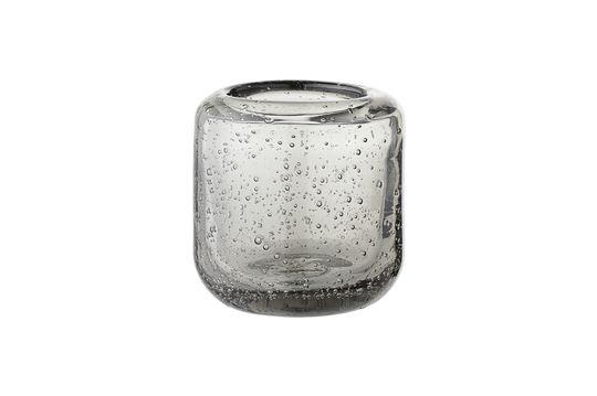 Lanterne en verre Luzillat grise pour bougie votive