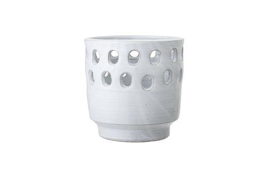 Lanterne Jarsy Terre cuite Blanc