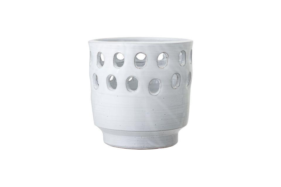 Lanterne Jarsy Terre cuite Blanc Bloomingville