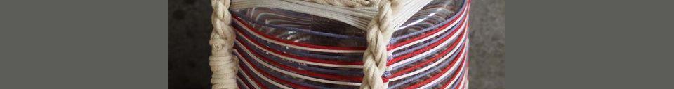 Mise en avant matière Lanterne Thieux à fils de coton colorés