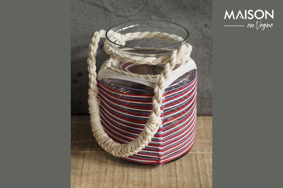 Lanterne Thieux à fils de coton colorés Chehoma