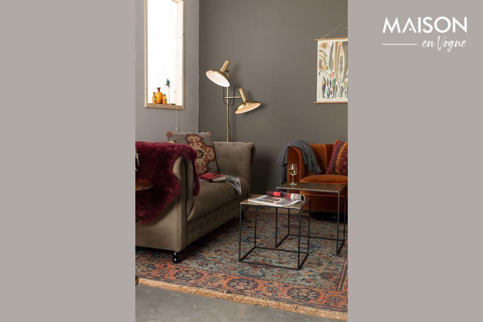 2 petites tables carrées gigognes pour votre salon ou votre hall d\'entrée
