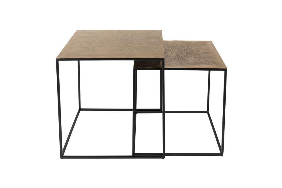 Lot de 2 tables gigognes Saffra - 6