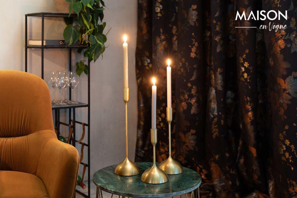 Pour un foyer chaleureux, les bougies sont indispensables