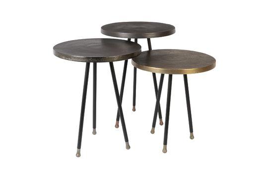 Lot de 3 tables d'appoint Alim Détouré