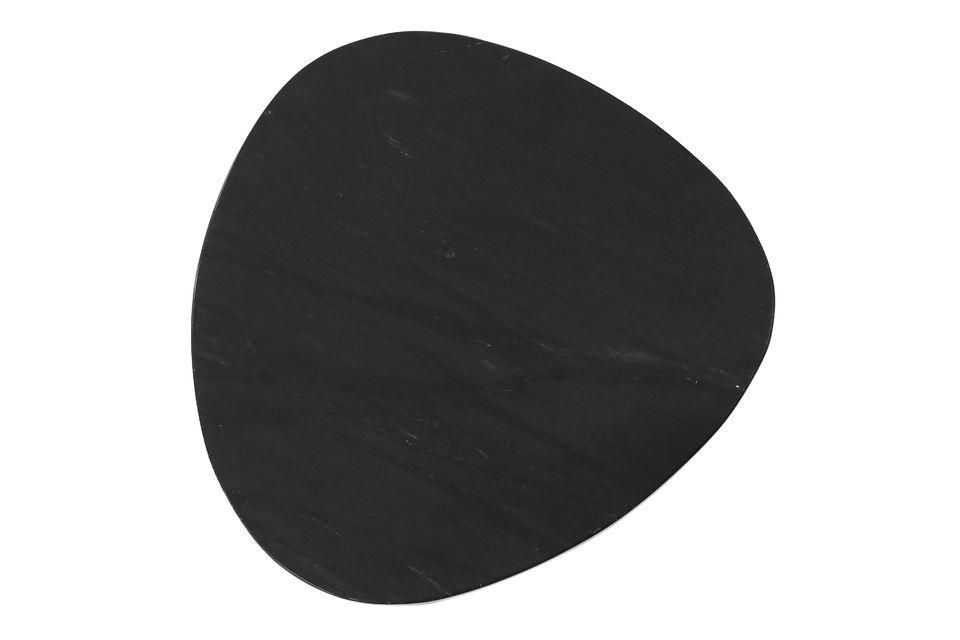 Set composé de 3 tables d'appoint en marbre noir