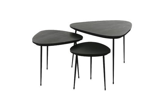 Lot de 3 tables d'appoint Axio en marbre