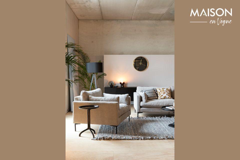 Est-ce un fauteuil ou un mini-canapé ? Est-il est dessiné pour accueillir une ou deux personnes ?