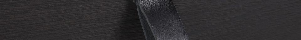 Mise en avant matière Meuble Console Tokio Noir