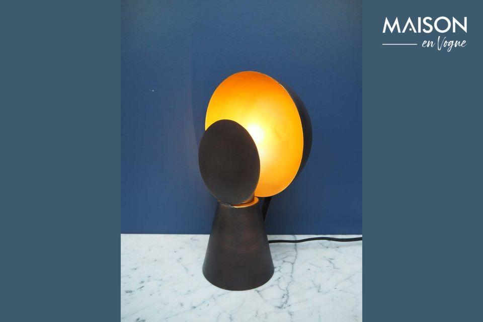 Mini lampe Hide & Seek noir et or Chehoma