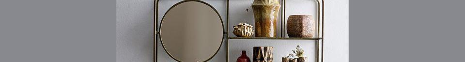 Mise en avant matière Miroir avec étagères Rombly
