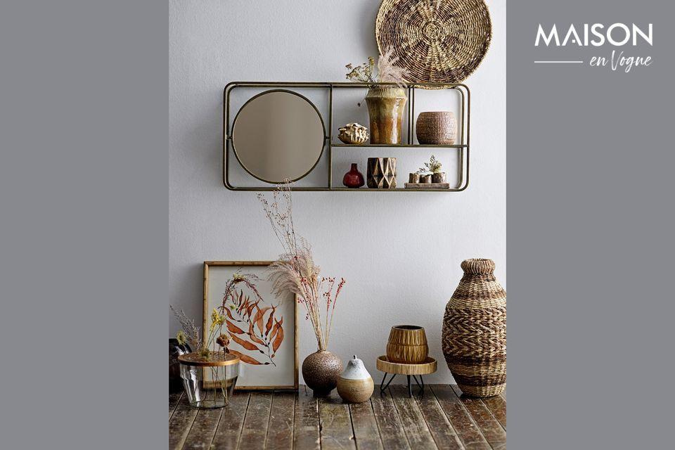 Miroir avec étagères Rombly