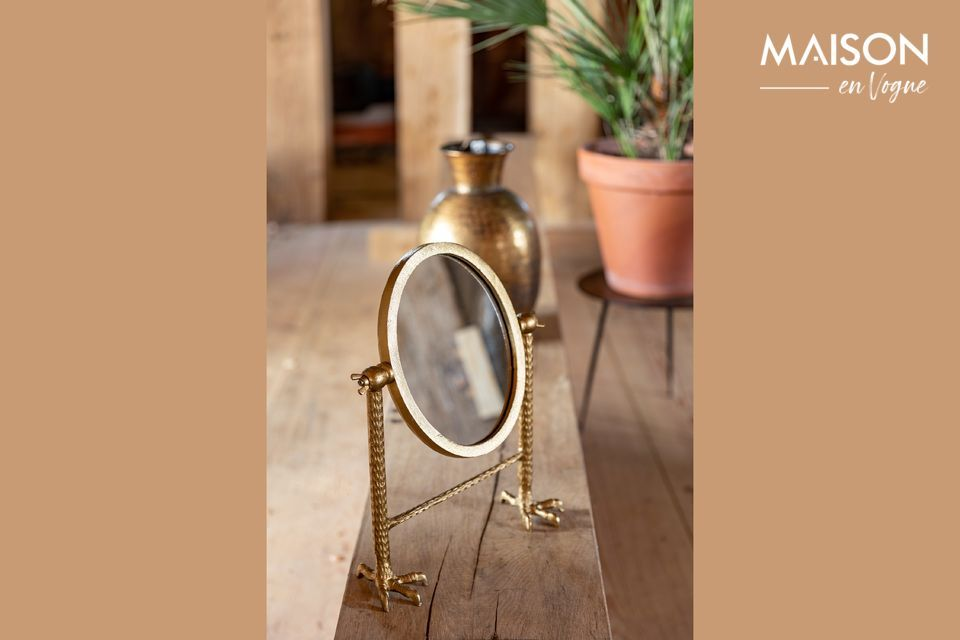 Miroir Falcon en laiton Dutch Bone