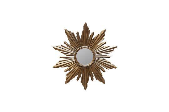 Miroir soleil Segrois en résine dorée Détouré