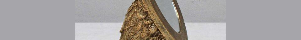 Mise en avant matière Miroir Sorbiers ovale avec pieds palmés