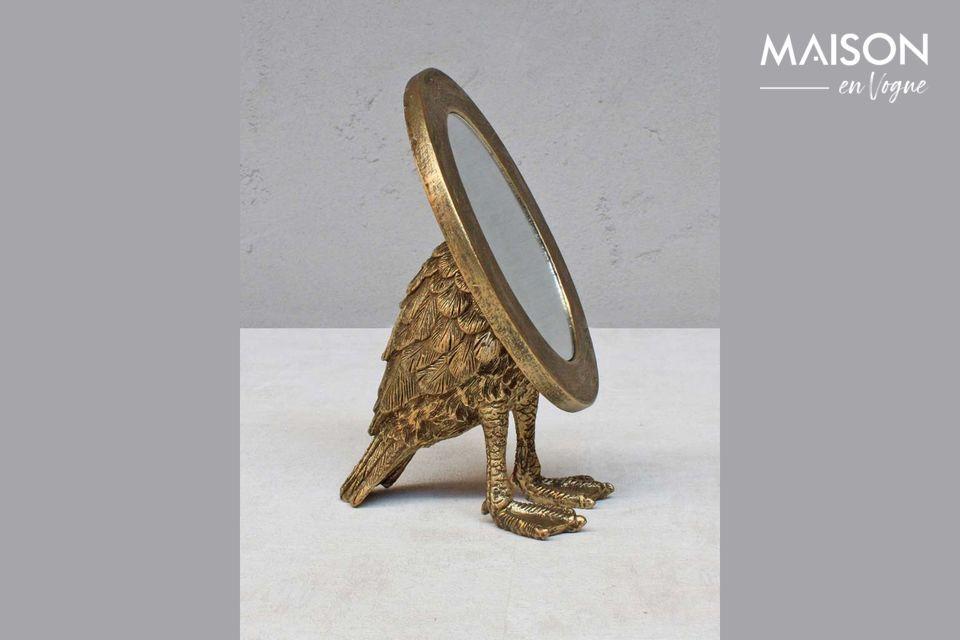 Miroir Sorbiers ovale avec pieds palmés Chehoma