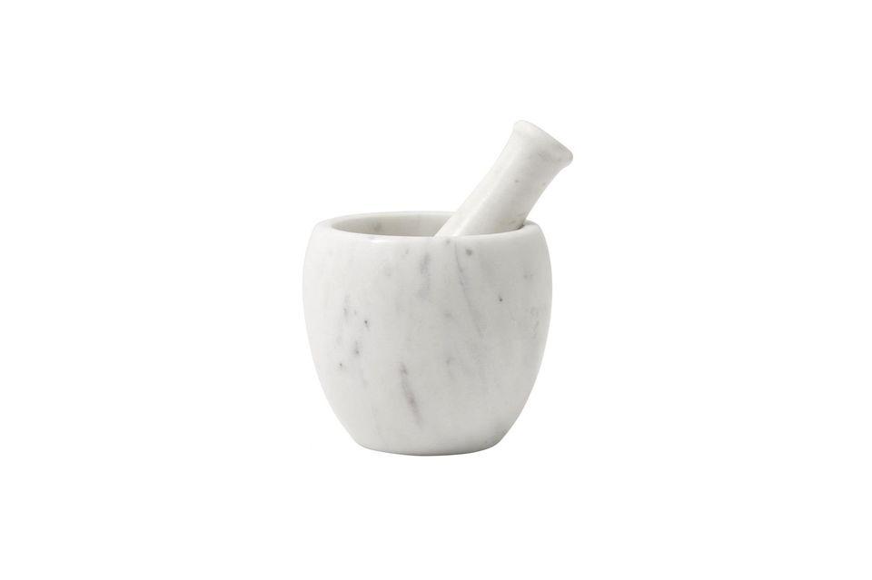 Mortier & pilon en marbre blanc Nordal