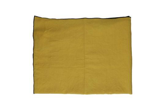 Nappe Métisse carrée jaune en lin et coton Détouré