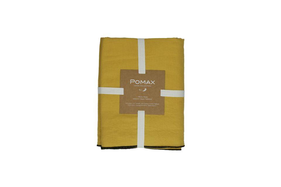 Quel bonheur de s\'attabler autour d\'un nappe mi-coton mi-lin au format carré de 170 cm de côté