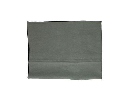 Nappe Métisse grise carrée en lin et coton Détouré