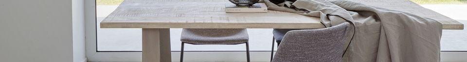 Mise en avant matière Nappe Métisse grise carrée en lin et coton