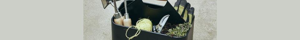 Mise en avant matière Panier de nettoyage en fer Cleany