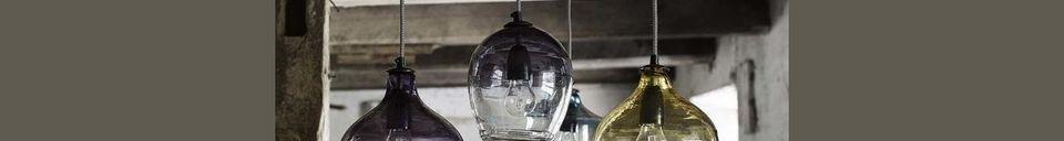 Mise en avant matière Pendentif Bubble en verre