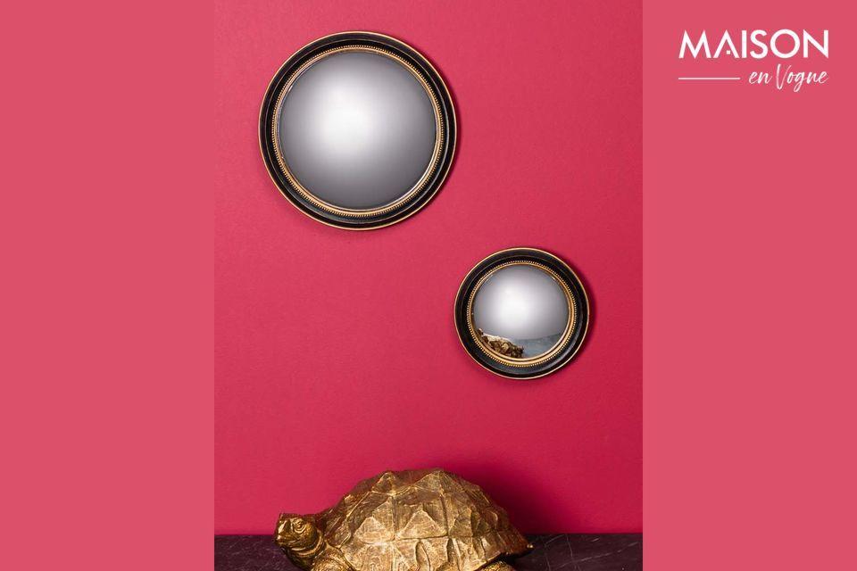 Miroir noir convexe