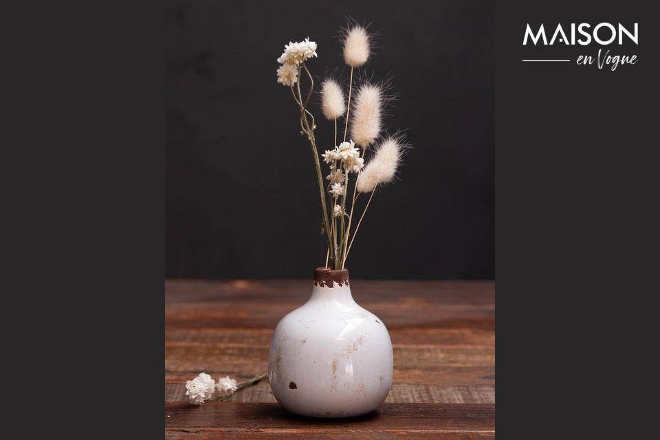 Petit vase en céramique blanc Houlle Chehoma