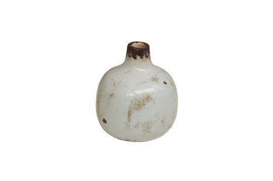 Petit vase en céramique blanc Houlle