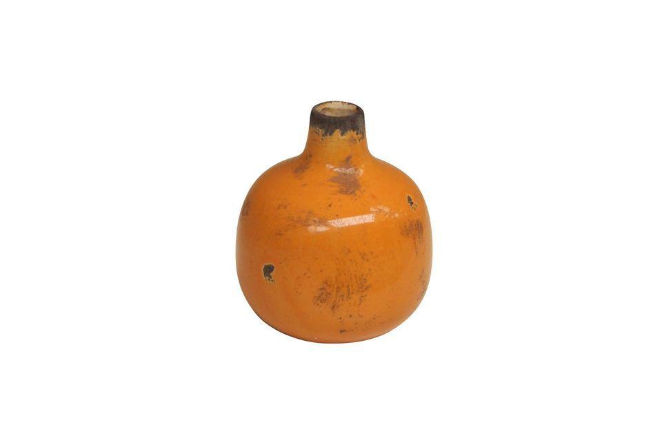 Petit vase en céramique jaune Houlle - 3