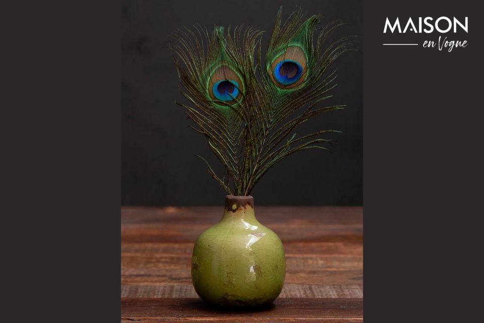 Petit vase en céramique vert Houlle Chehoma