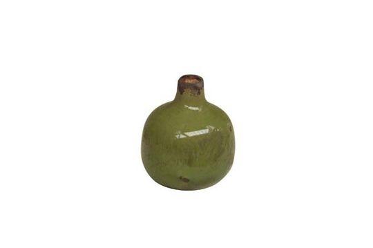 Petit vase en céramique vert Houlle