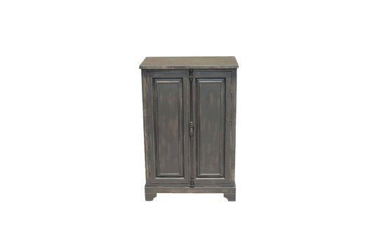 Petite armoire Pretoria noire en bois Détouré