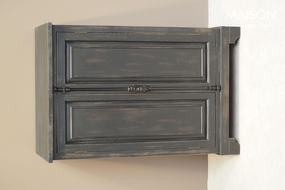 Petite armoire Pretoria noire en bois Chehoma