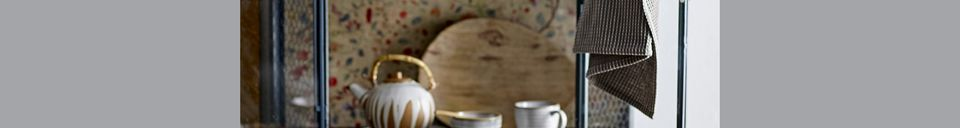 Mise en avant matière Pichet à lait et sucrier Camélia en porcelaine