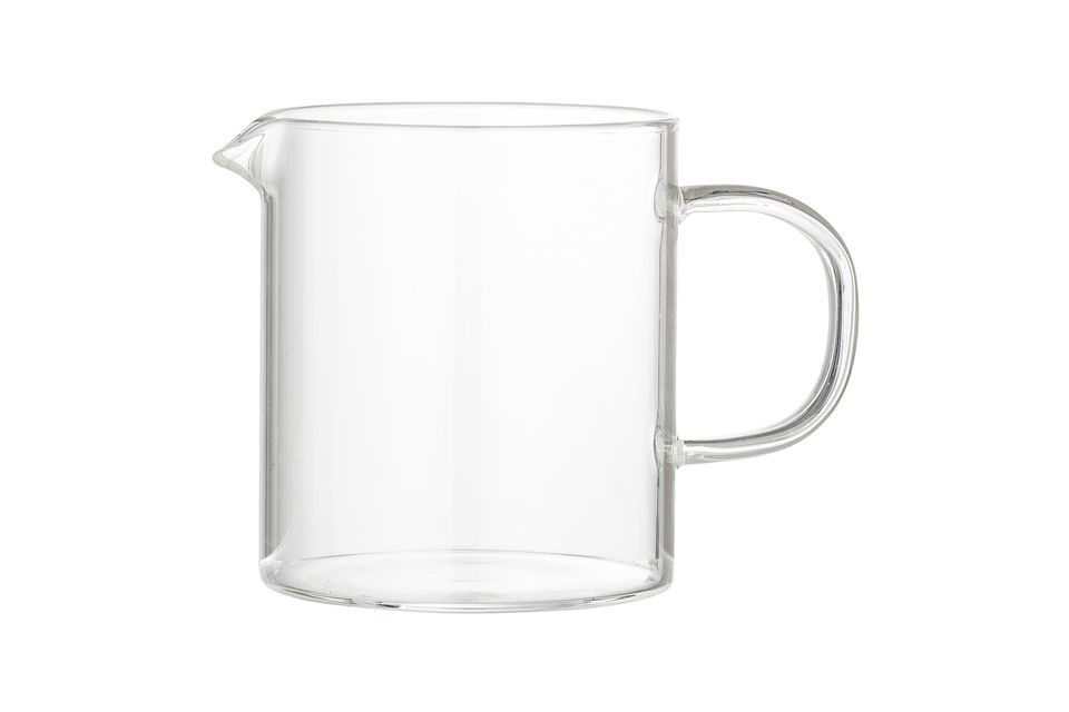 Le verre transparent permet de surveiller la quantité restante et reste parfaitement indémodable