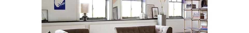 Mise en avant matière Pied de lampe Curgyen grès anthracite taille L