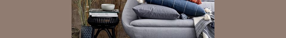Mise en avant matière Plaid gris en coton